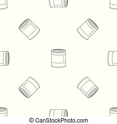 Food tin can pattern seamless vector