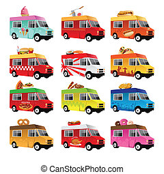 Food truck - A vector illustration of food truck icon ...