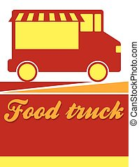 Food truck festival flyer design