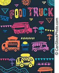 Food Truck Festival Illustration