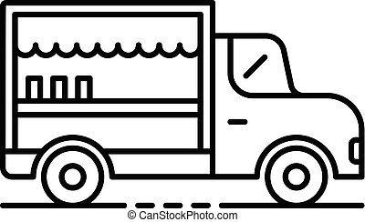 Food truck icon, outline style