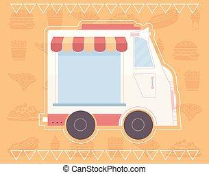 Food Truck Poster Design Illustration