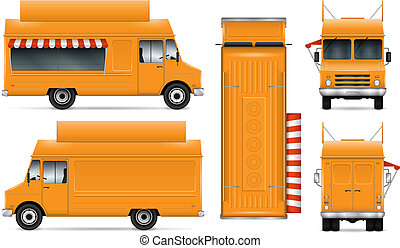 Food Truck Vector Illustration