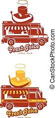 food truck vector logo template