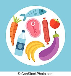 Food vector flat illustration