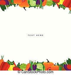 food vegetable frame illustration