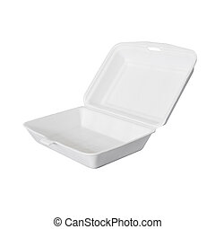 food ware packaging of foam isolated
