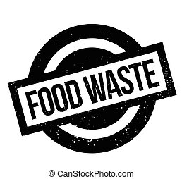 Food Waste rubber stamp. Grunge design with dust scratches....