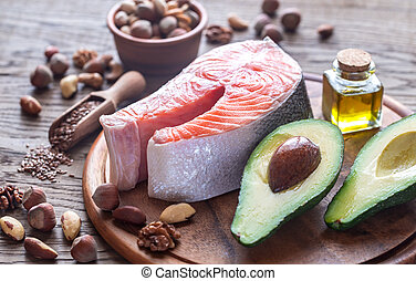 Food with Omega-3 fats