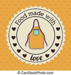 Foodstuff Design - Foodstuff design over yellow background,...