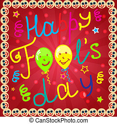 Fool's day background