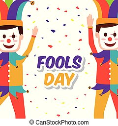 fools day greeting card