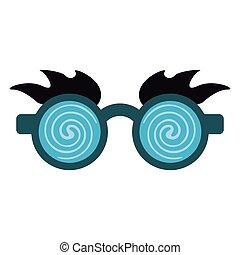 fools, fou, avril, jour, lunettes