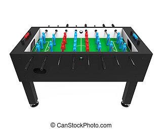 foosball, サッカー, テーブルのゲーム, 隔離された
