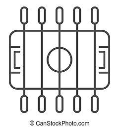 foosball, design., plano de fondo, delgado, contorno, tabla...