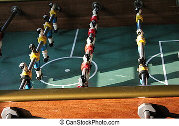 foosball, futebol, tabletop, futebol