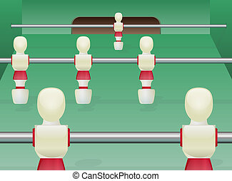 foosball table, football