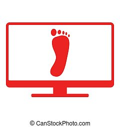 Foot and screen