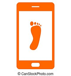 Foot and smartphone
