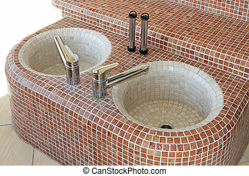 Foot basin - Two foot care basin for pedicure therapy