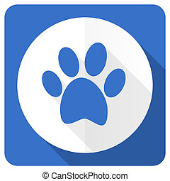 foot blue flat icon