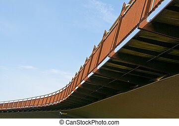 Foot bridge & cycle way over river