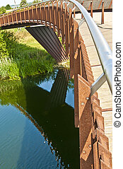 Foot bridge & cycle way over river