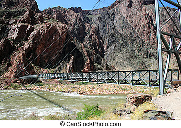 foot bridge, Grand Canyon