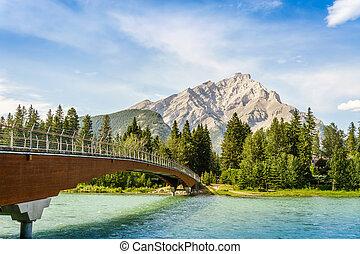 Foot bridge in Banff, Alberta, Canada - Foot bridge in Banff...