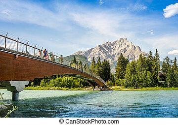 Foot bridge in Banff, Alberta, Canada