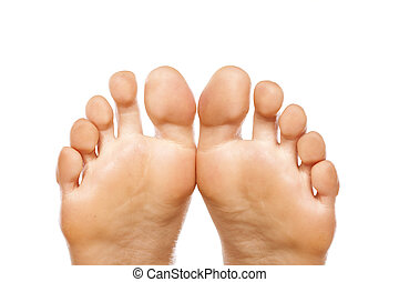 foot fingers - fingers on the nice ladies' foot