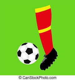 foot football and soccer ball