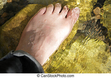 foot in the water
