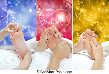 Foot Massage Christmas Gift Idea x3 - Reflexologist holding ...