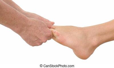 Foot massage in HD