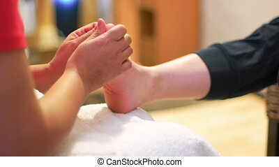 Foot Massage in Thai Studio