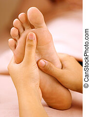 foot massage - foot reflexology