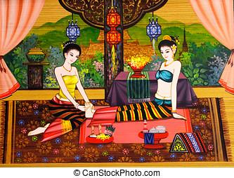 foot massage, treatment spa, thai traditional massage