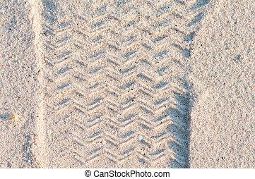 foot print - Foot print on the beach.
