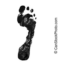Foot print - Detailed vector image of foot print isolated on...