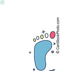Foot print icon design vector