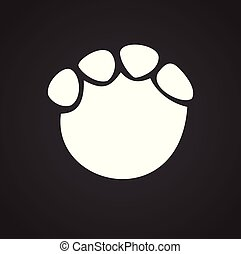 Foot print icon on black background for graphic and web design, Modern simple vector sign. Internet concept. Trendy symbol for website design web button or mobile app.