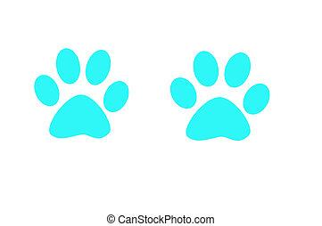 Foot print - Blue colour foot print