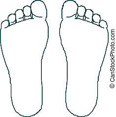 Foot prints vector  illustrations