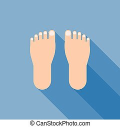 foot sign icon vector