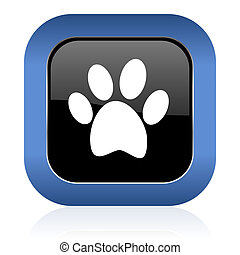 foot square glossy icon