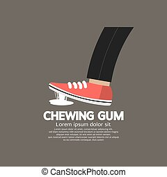 Foot Stuck Into Chewing Gum. - Foot Stuck Into Chewing Gum...
