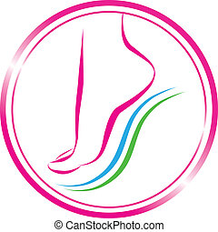 foot symbol  -  foot symbol. element for design