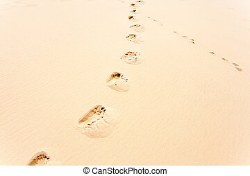 foot track in the sand