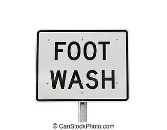 Foot Wash Sign